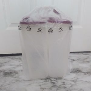 New Tupperware 2 Container of 2 Liters